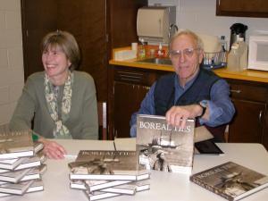 Kim Fairley and Silas Ayer at a book signing, copyright © Kim Fairley and Silas Hibbard Ayer III.