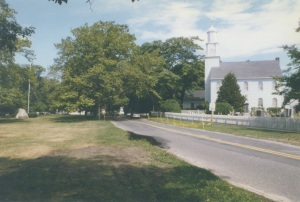The present Setauket Presbyterian Church structure was built in 1812. Its graveyard dates to the 1660s.