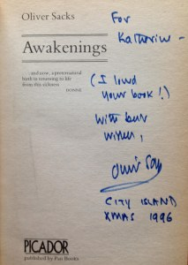 autograph by Oliver Sacks